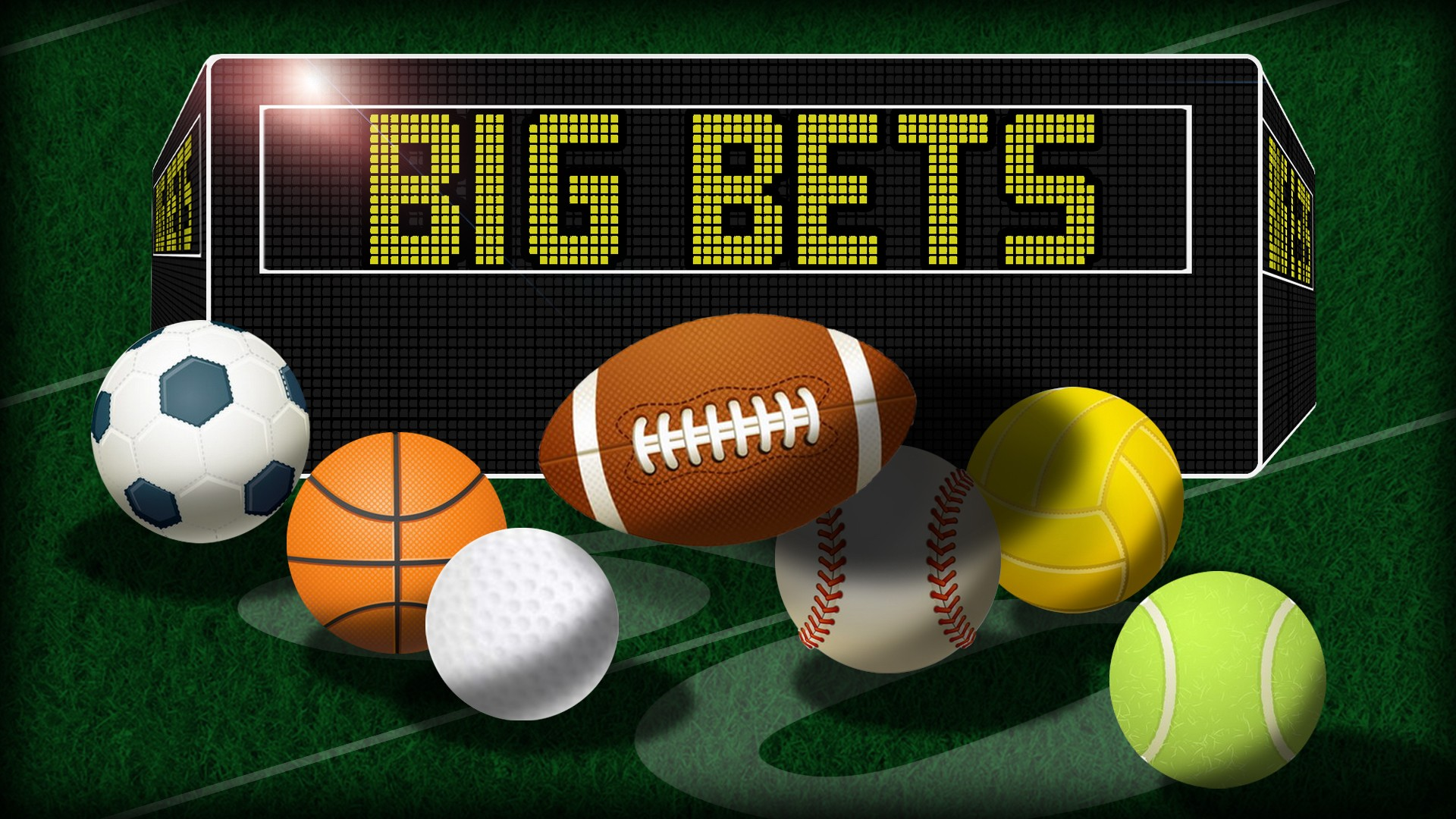 Betting online on the football